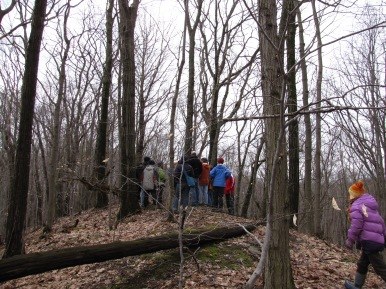 Climbing the esker